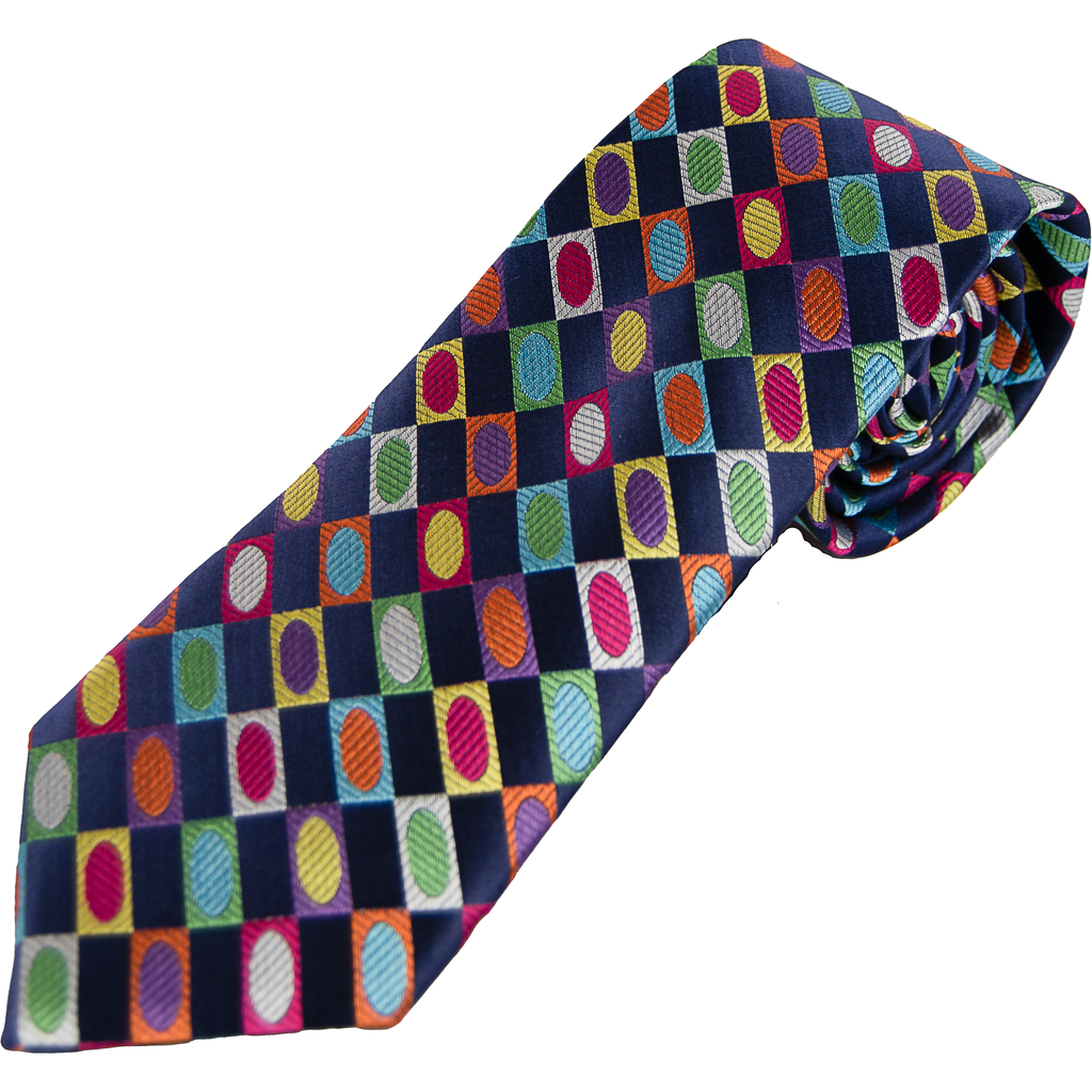 Van Buck Limited Edition Tie - Diagonal Geometric - Livingston - Castle Douglas