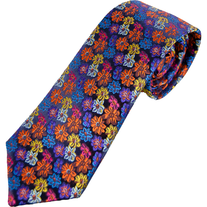 Van Buck Limited Edition Tie - Copper Dasies - Livingston - Castle Douglas