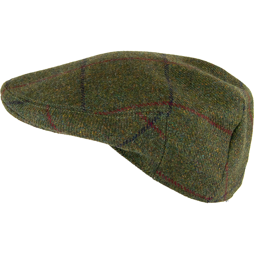 Livingston Tweed Garforth Cap -Moss Green Window - Livingston - Castle Douglas