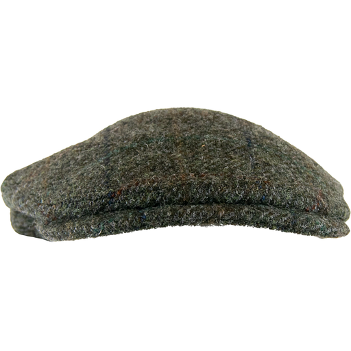 Olney York Harris Tweed Cap -  Brown - Livingston - Castle Douglas