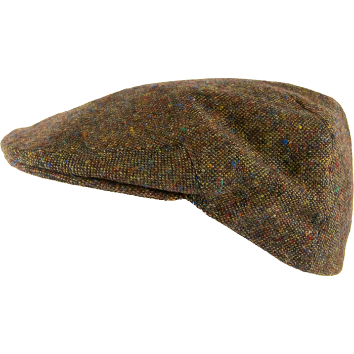 Olney Donegal Tweed Cap - Brown