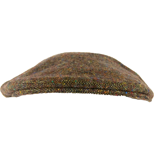 Olney Donegal Tweed Cap - Brown - Livingston - Castle Douglas
