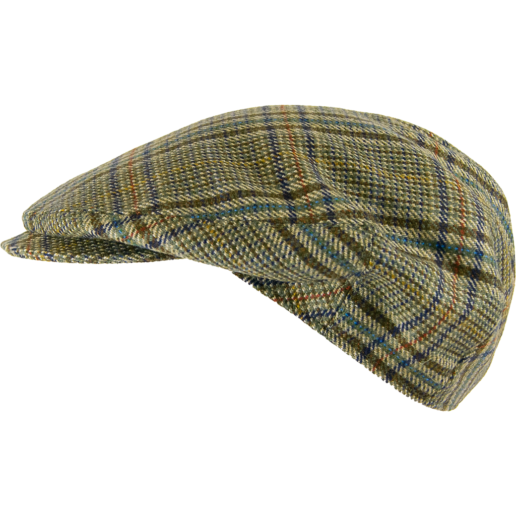 Livingston Tweed Countryman Cap - Bold Check - Livingston - Castle Douglas