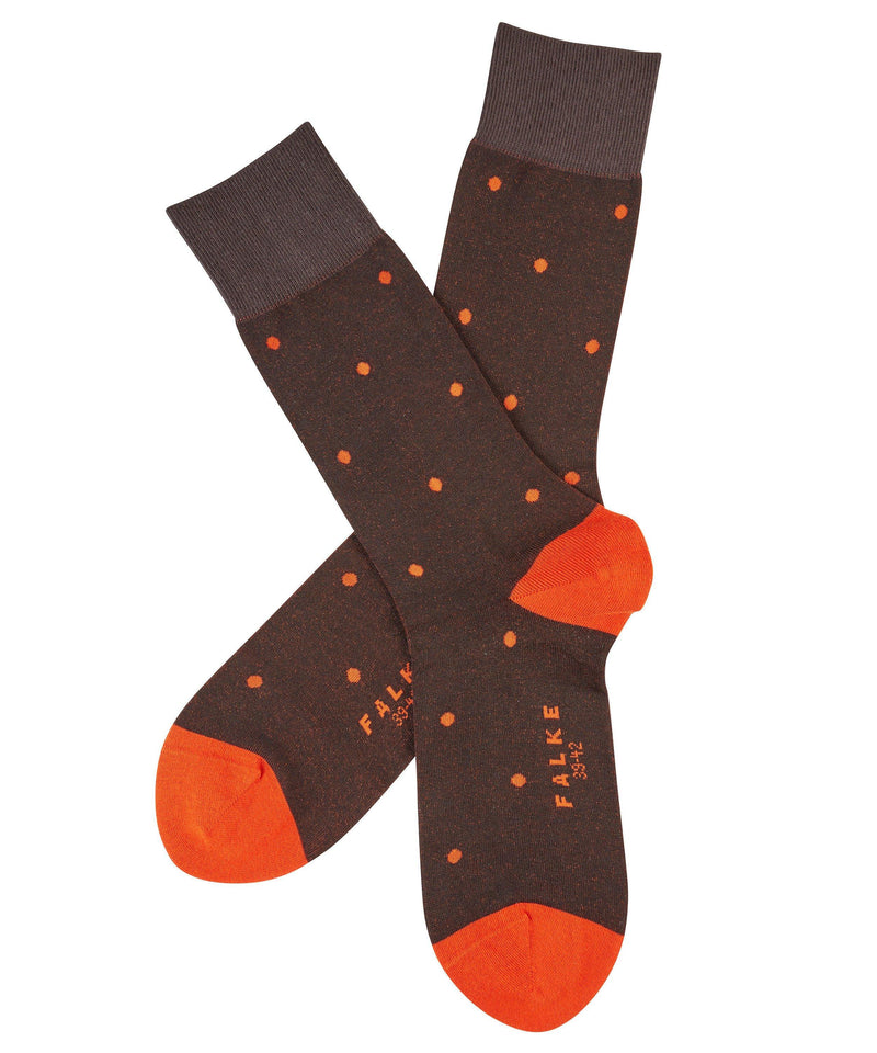 Falke Dot Cotton Sock - Brown - Livingston - Castle Douglas