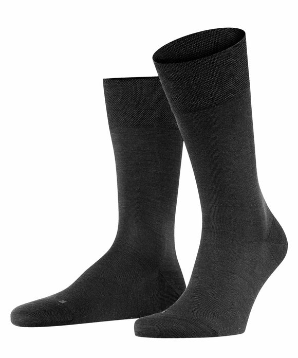 Falke Sensitive Berlin Wool Cotton Mix Sock - Black