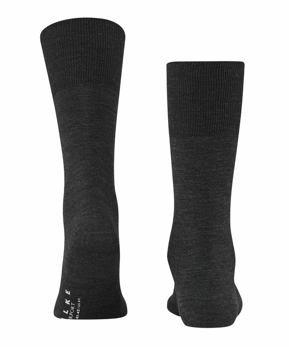 Falke Airport Wool Mix Socks - Charcoal - Livingston - Castle Douglas