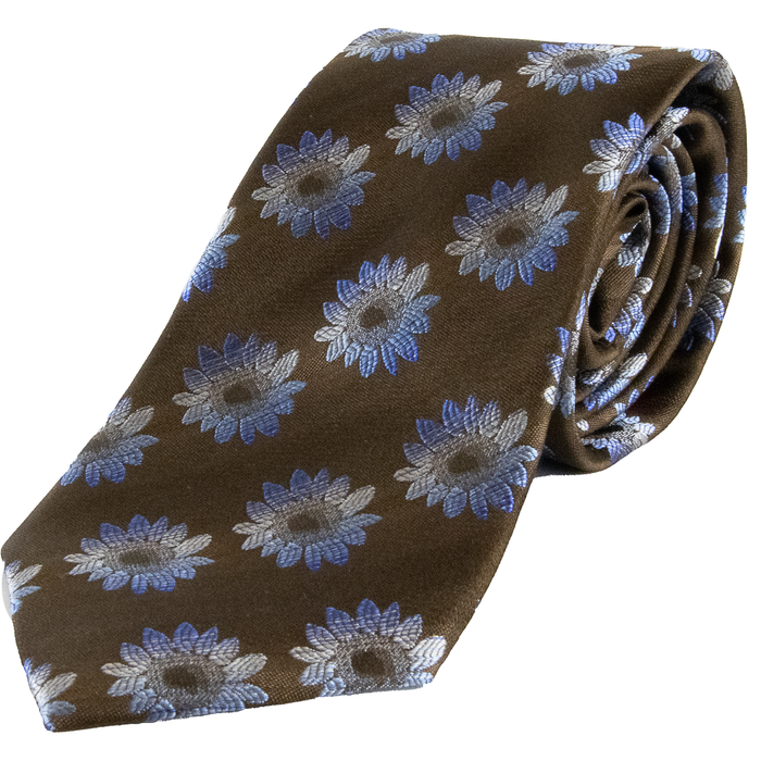 Van Buck Daisy Tie - Brown / Blue