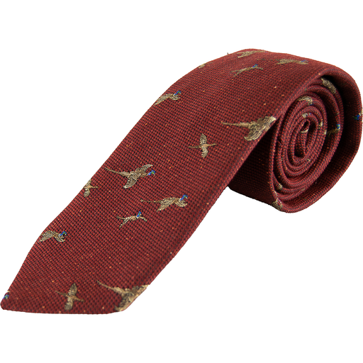 Wool and Silk Pheasant Tie - Livingston - Castle Douglas