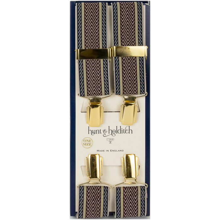 Hunt & Holditch Fancy Clip Braces -Herringbone - Livingston - Castle Douglas