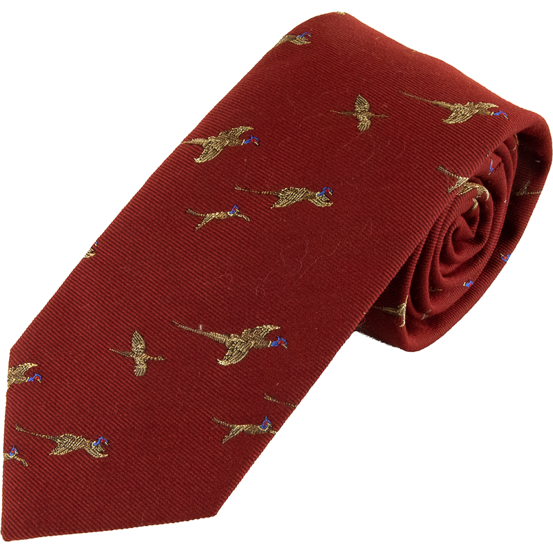 Wool and Silk Flying Pheasant Tie - Livingston - Castle Douglas