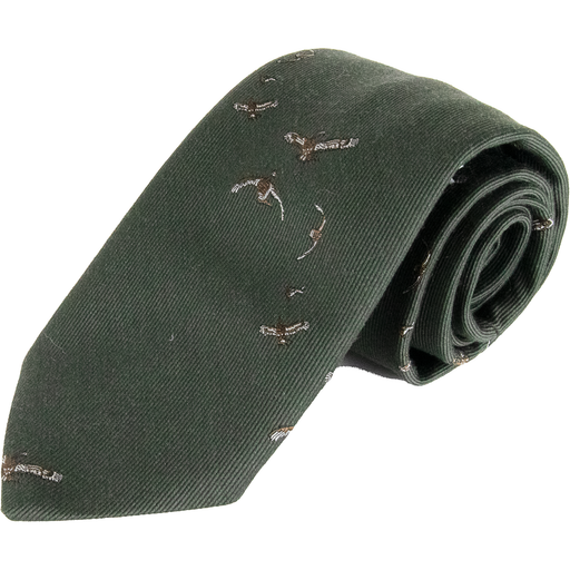 Wool and Silk Flying Duck Tie - Livingston - Castle Douglas