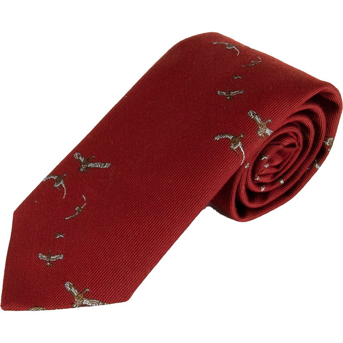 Wool and Silk Flying Duck Tie
