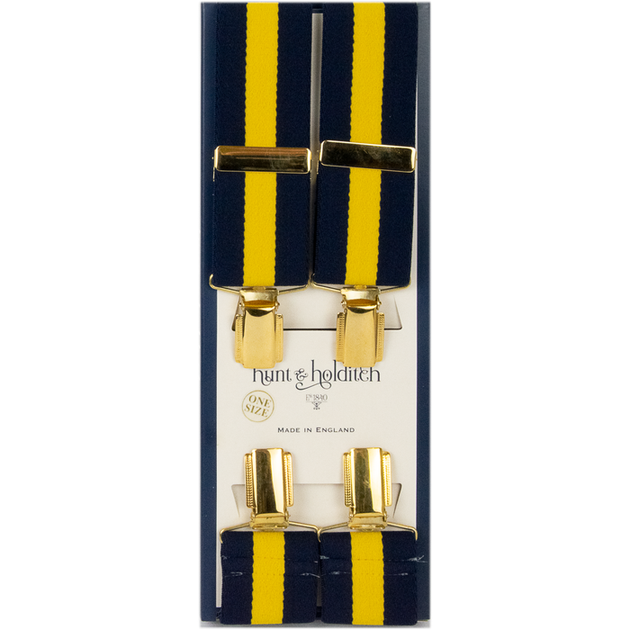 Hunt & Holditch Fancy Clip Braces - Stripe - Livingston - Castle Douglas