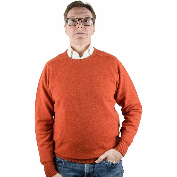 William Lockie Lambswool Pullover - Ember