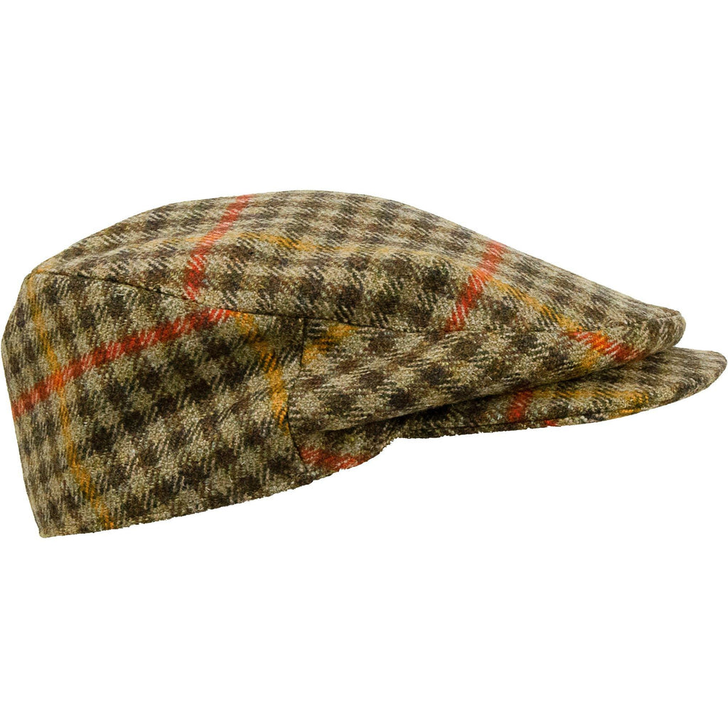Limited Edition Bond Style Cap - Brown /Red Check - Livingston - Castle Douglas