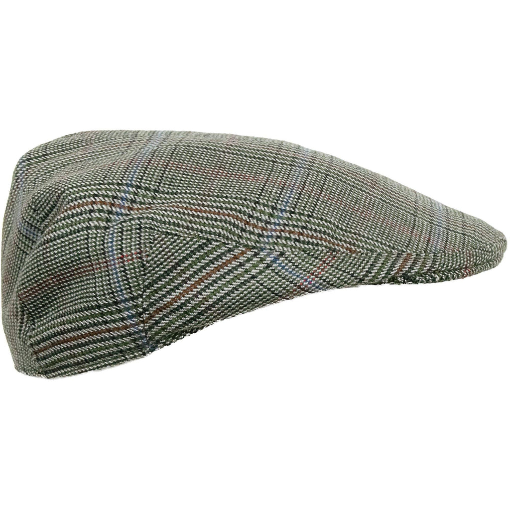 Limited Edition Worsted Cashmere Cap - Green Check - Livingston - Castle Douglas