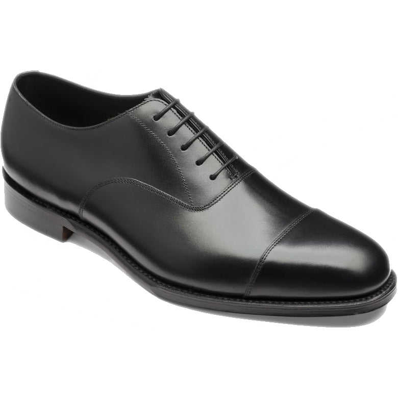 Loake Aldwych Rubber Sole Shoe - Black