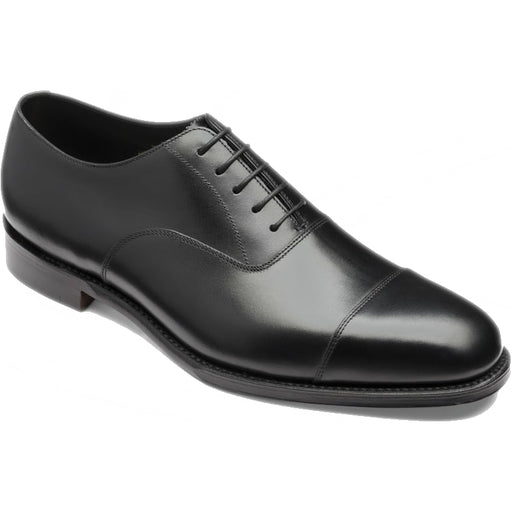 Loake Aldwych Rubber Sole Shoe Black