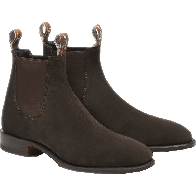 R M Williams Suede Craftsman Boot - Chocolate