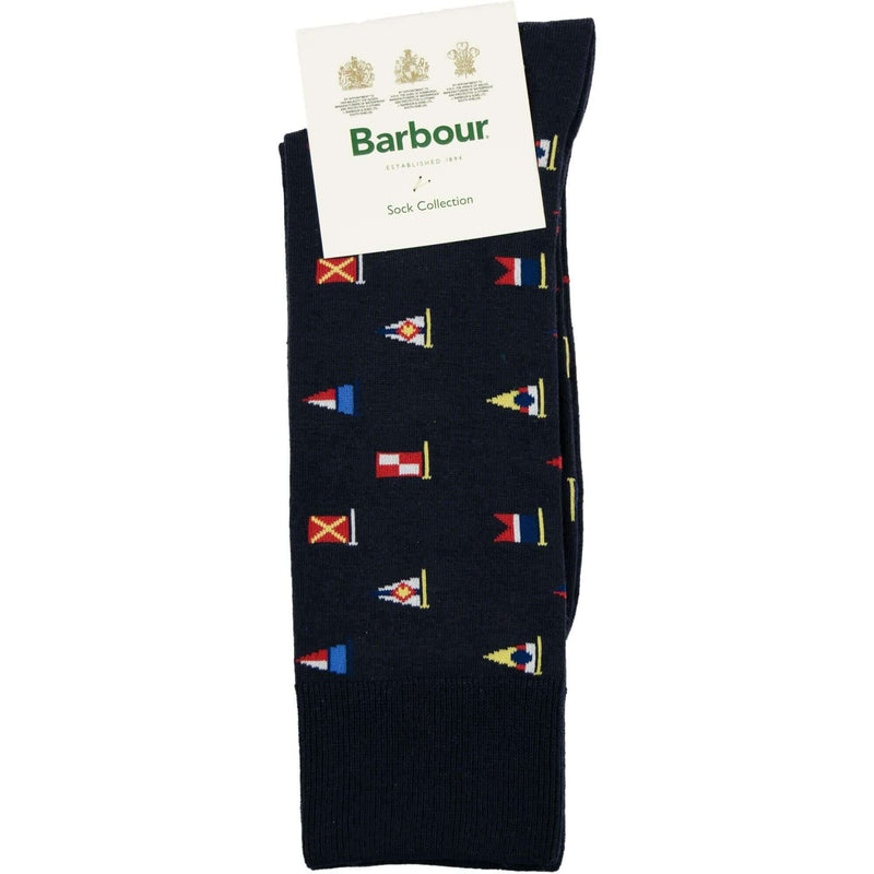 Barbour Mavin Flag Socks - Navy - Livingston - Castle Douglas