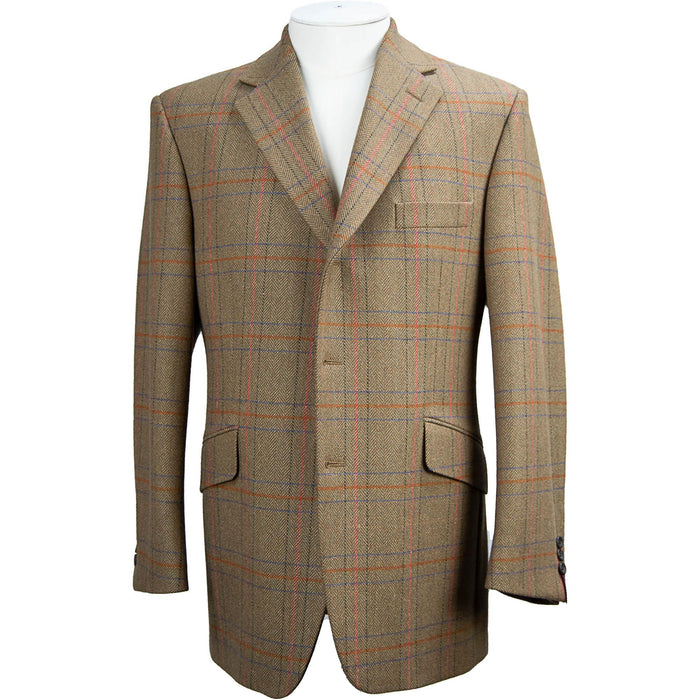Bladen Window Check Jacket - Brown / Sienna