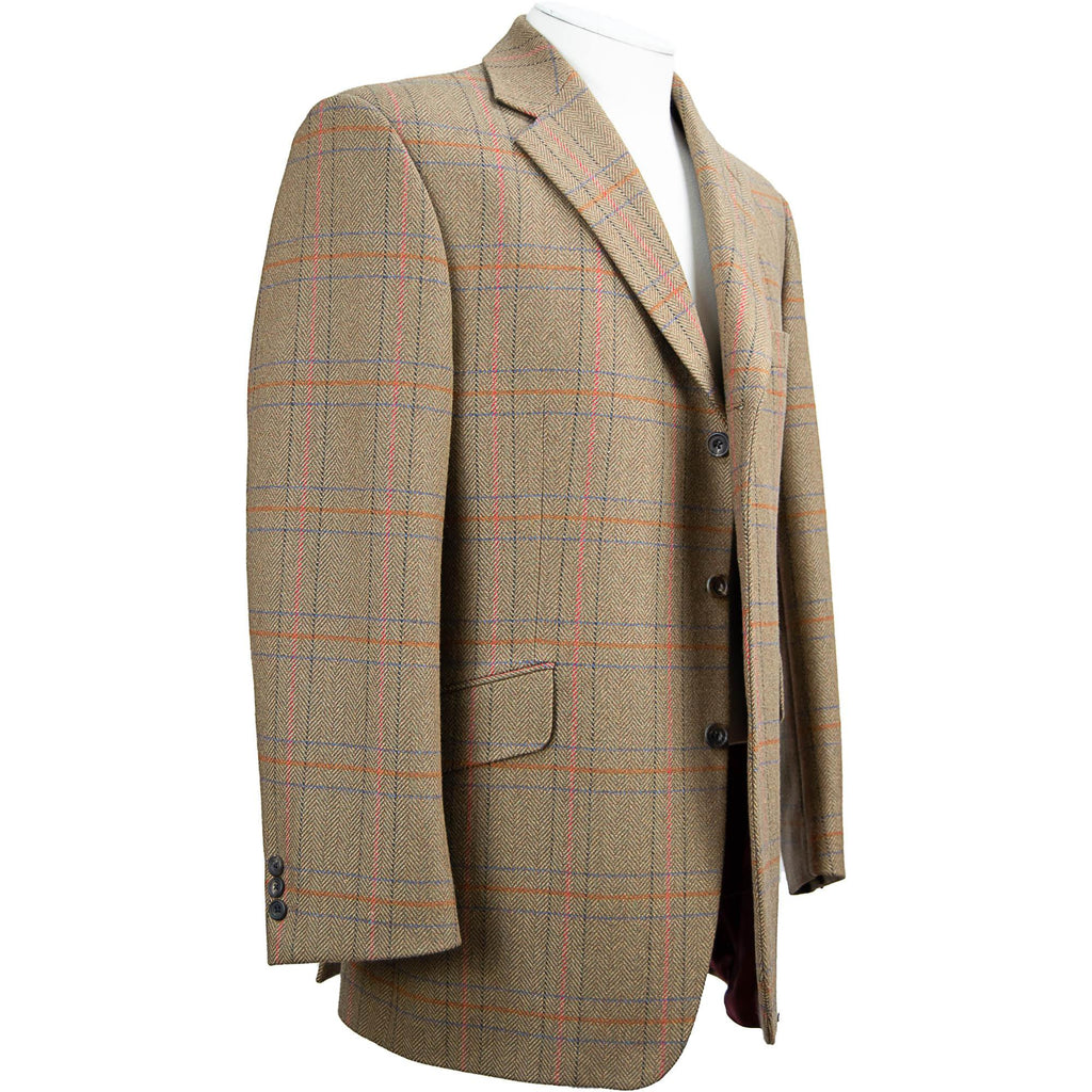Bladen Window Check Jacket - Brown / Sienna - Livingston - Castle Douglas