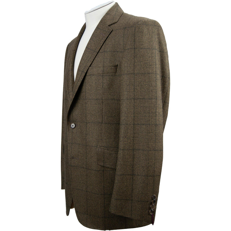 Bladen Worsted Check Jacket - Brown - Livingston - Castle Douglas