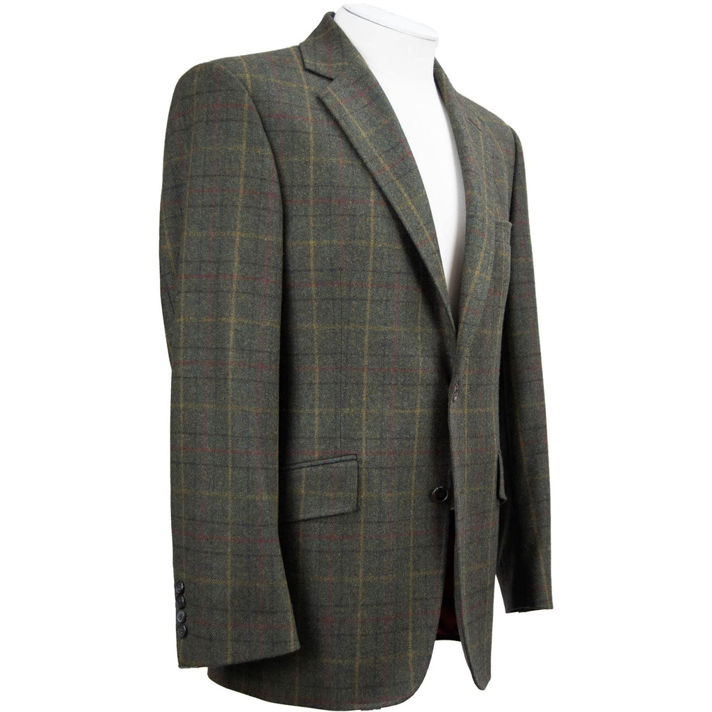 Bladen Multi Window Check Jacket - Forest - Livingston - Castle Douglas