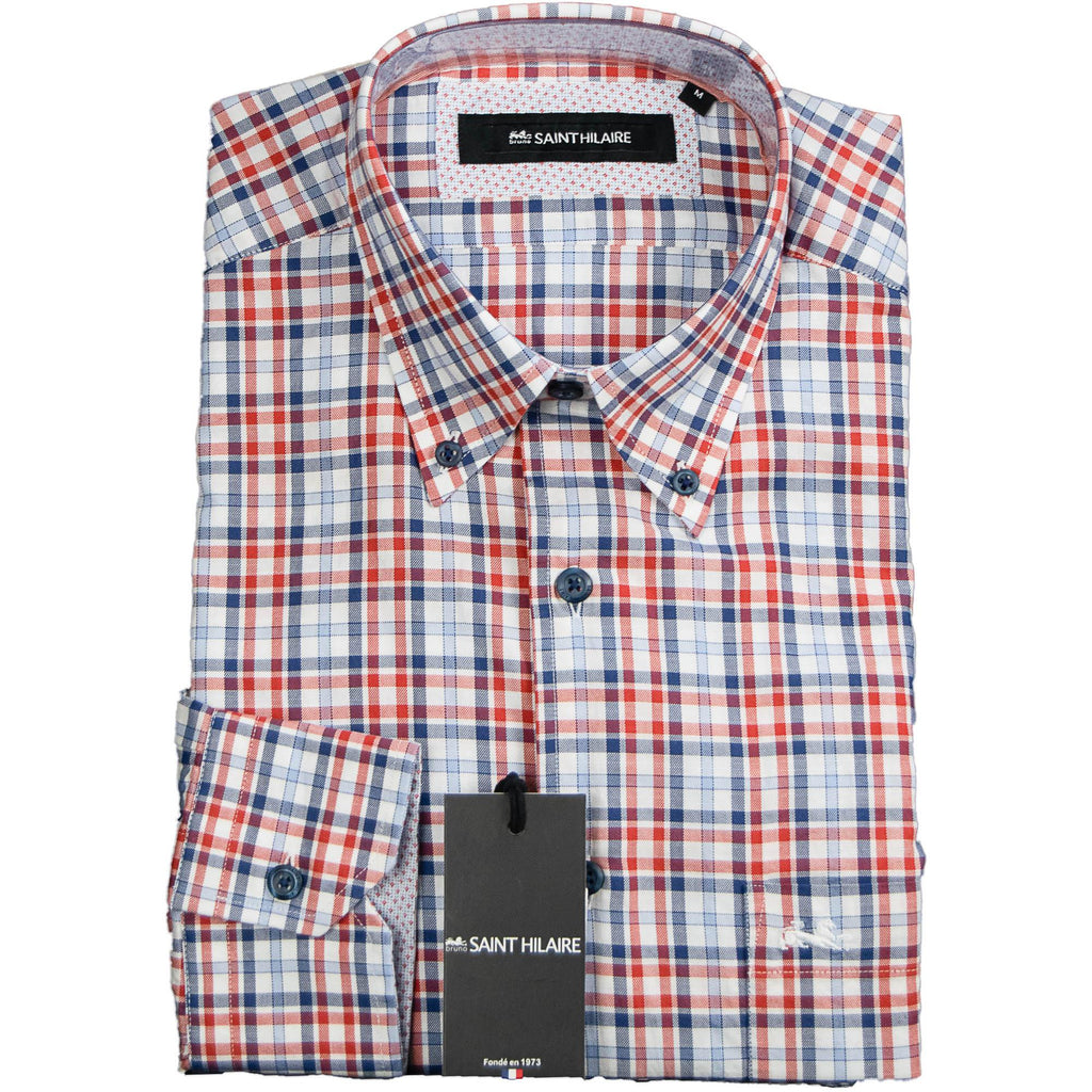Bruno Saint Hilare Check Shirt - Blue & Red - Livingston - Castle Douglas