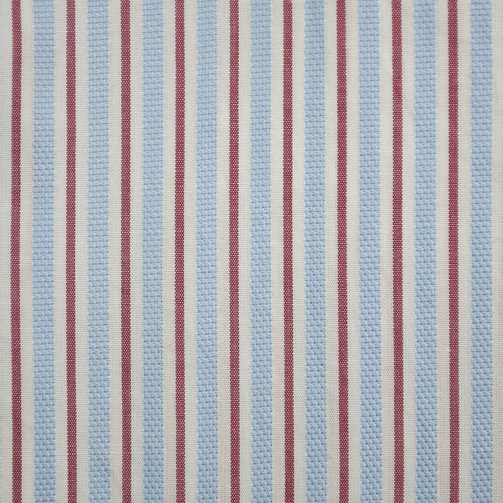 Bruno Saint Hilaire Stripe Shirt - Blue & Red - Livingston - Castle Douglas