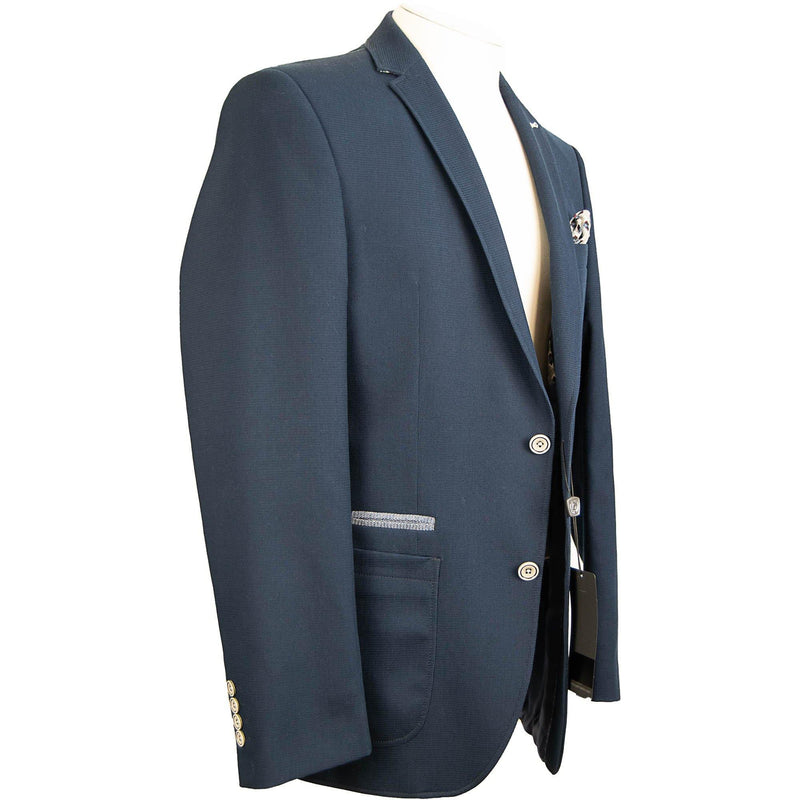 Bugatti Unconstructed Navy Master Blazer - Midnight - Livingston - Castle Douglas