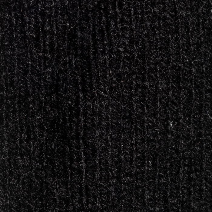 William Lockie Lambswool Pullover - Black