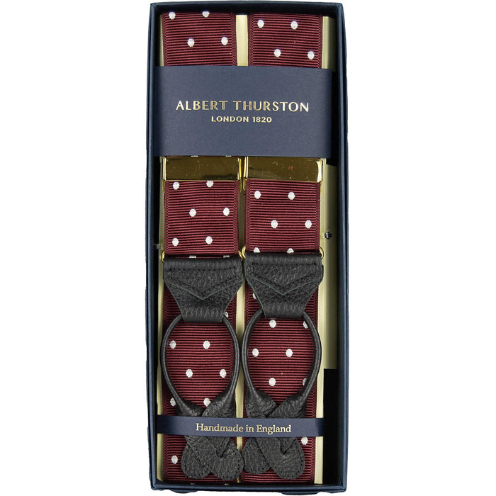 Albert Thurston  Corded Silk Button Braces