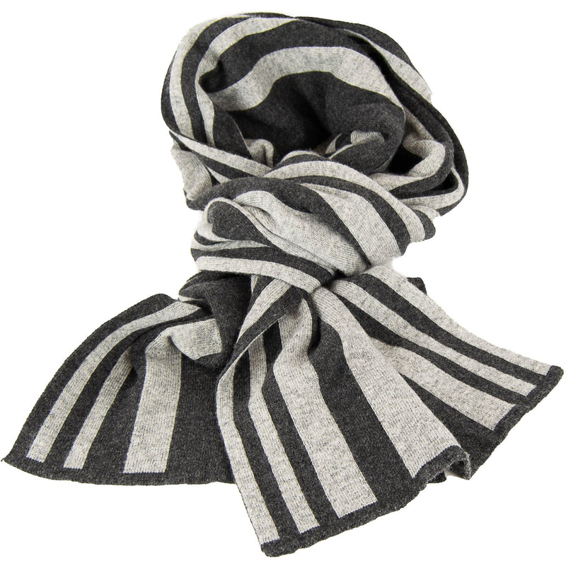 Stripe Scarf with Cashmere