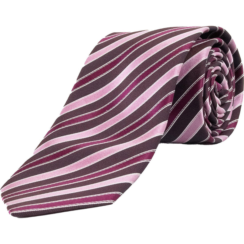 Stripe Tie - Pink / Brown