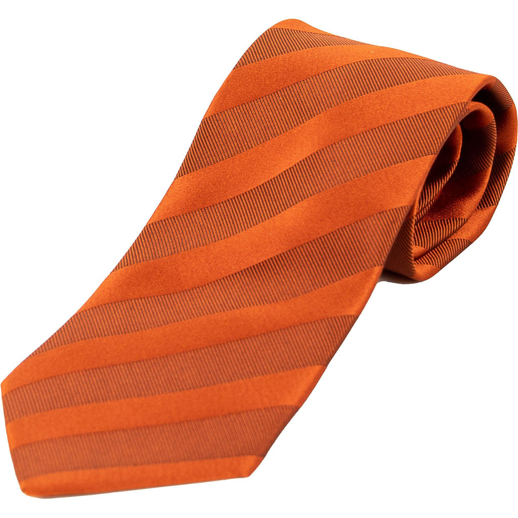 Self Stripe Silk Tie