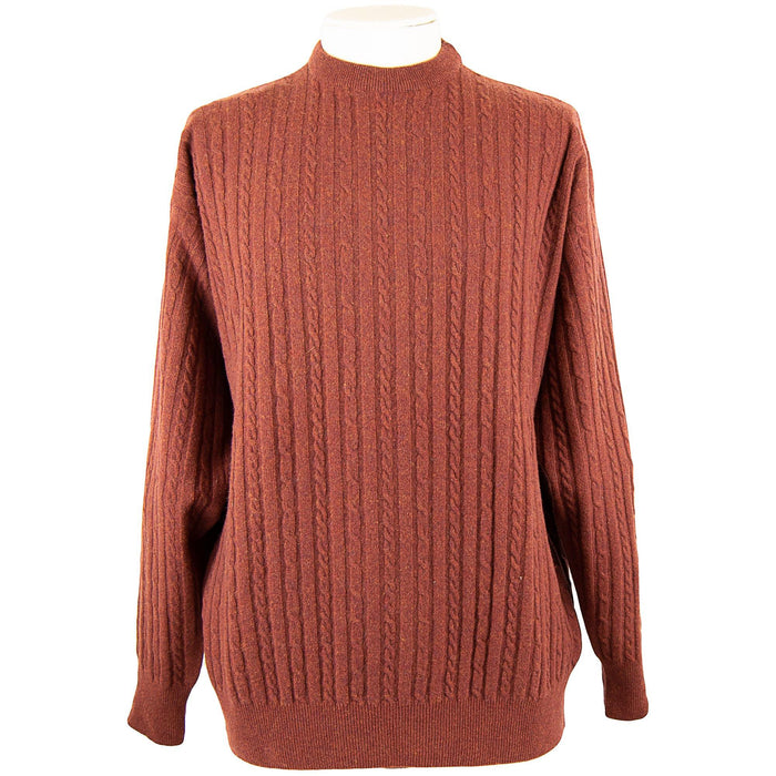 Massoti Cabled Lambswool Pullover - Sherry