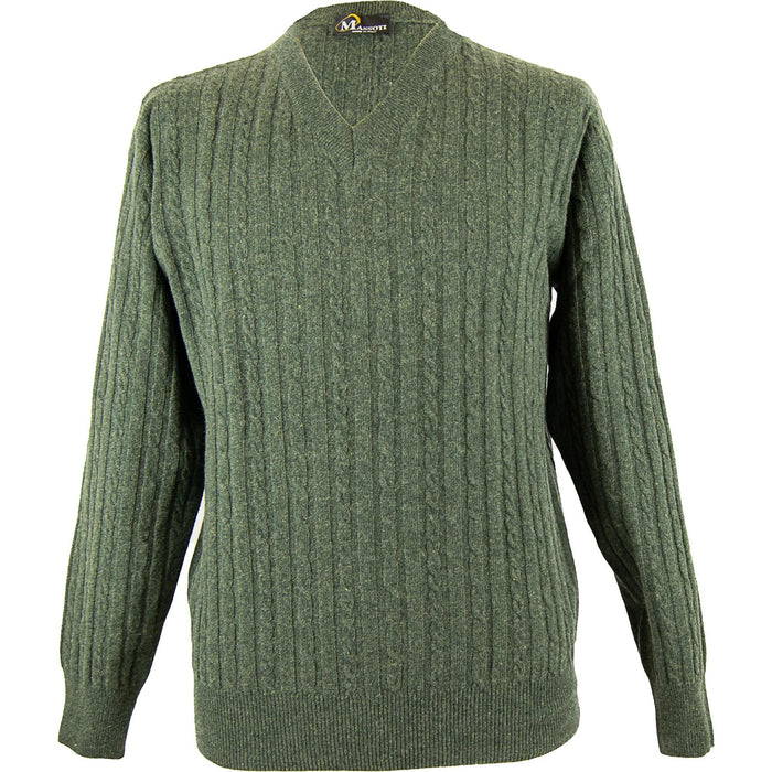Massoti Cabled Lambswool Pullover - Forest