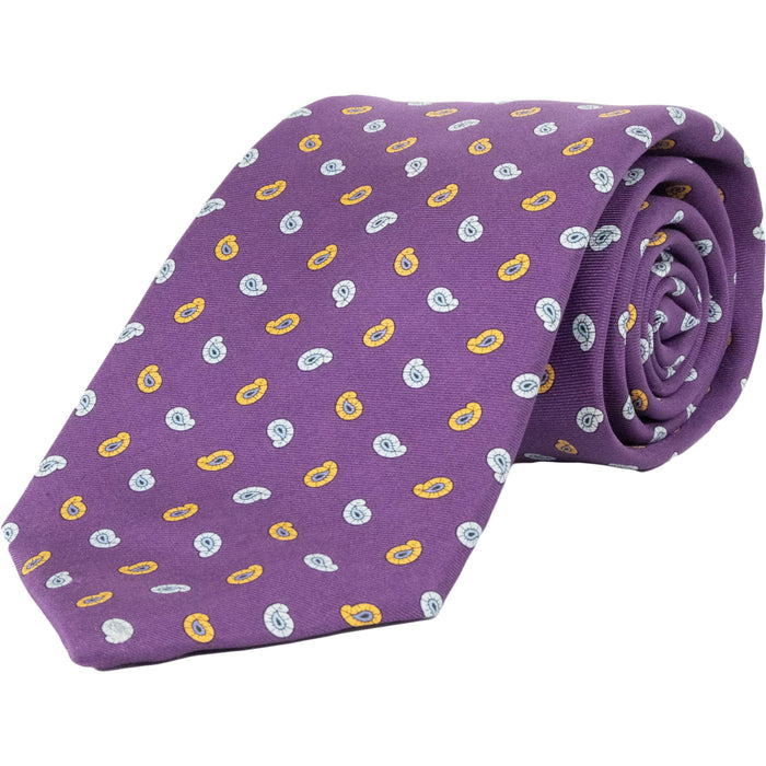 Paisley Silk Tie -Purple