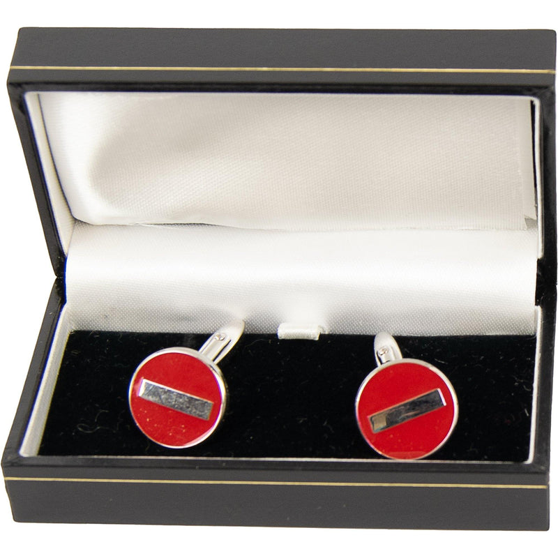 Novelty Cuff Links - Stop