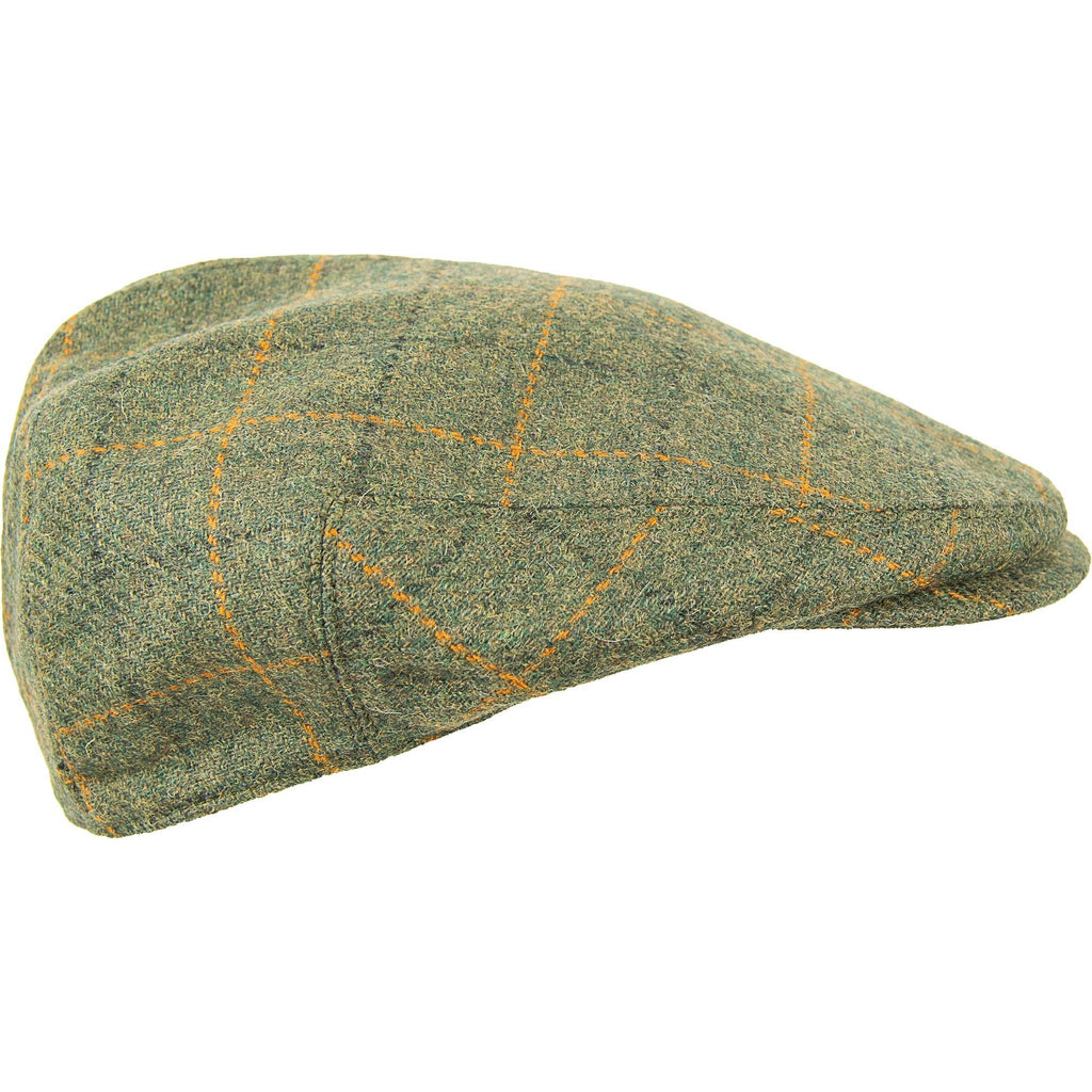 Tweed Cap - Olive Window