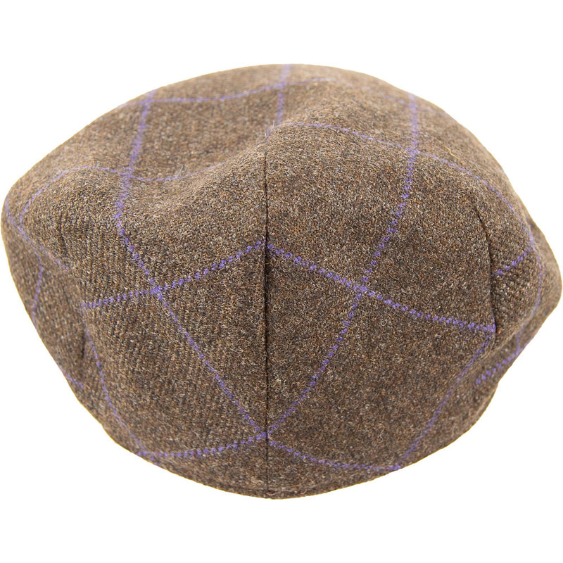 Tweed Cap -Peat / Purple