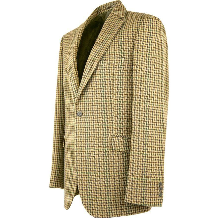 Exclusive Moons Club Check Jacket - Fawn and Green