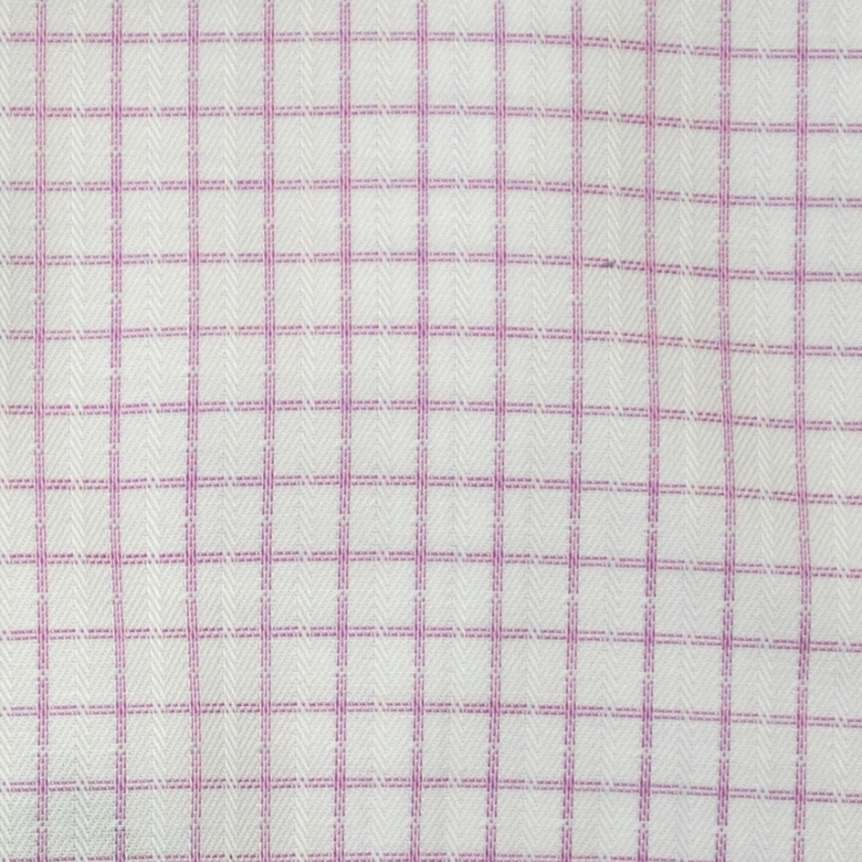 Eterna Grid Check Shirt - Pink - Livingston - Castle Douglas