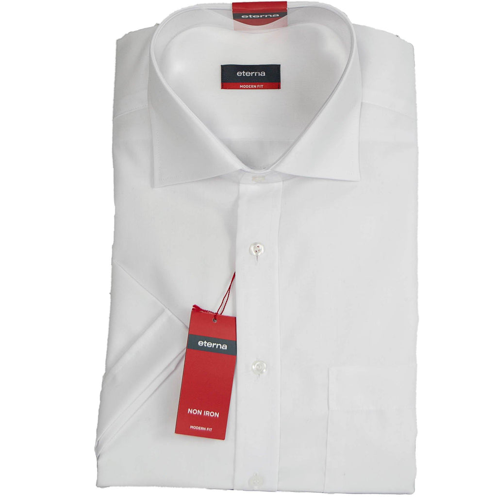 Eterna Short Sleeve Shirt - White - Livingston - Castle Douglas