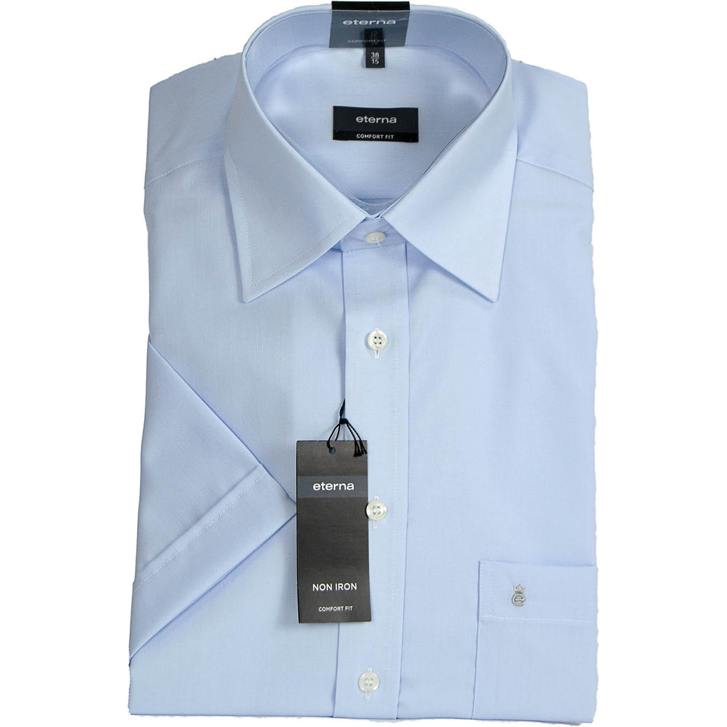 Eterna Short Sleeve Shirt - Pale Blue - Livingston - Castle Douglas
