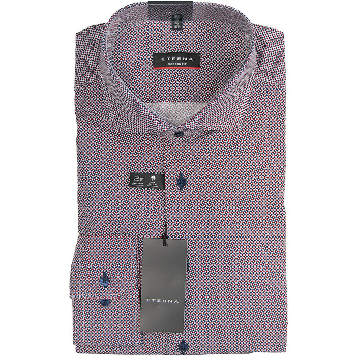 Eterna Patterned Shirt - Red / Navy