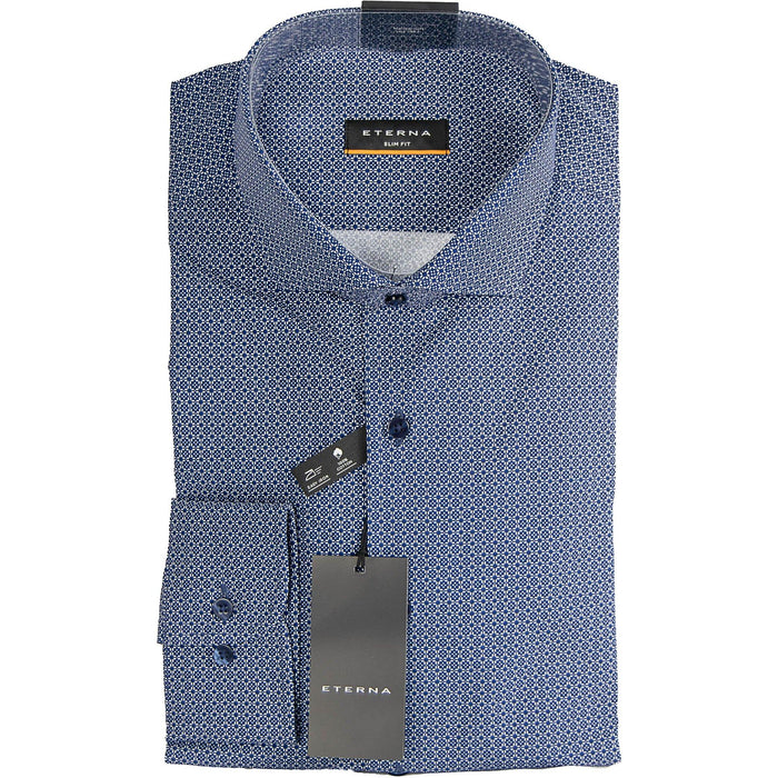 Eterna Print Shirt - Navy - Livingston - Castle Douglas