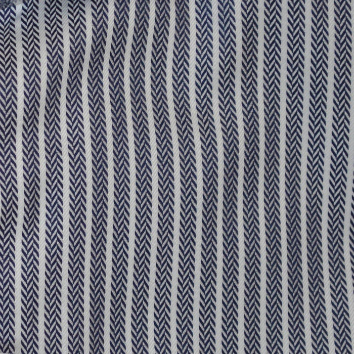 Eterna 1863 Herringbone Striped Shirt - Navy / White - Livingston - Castle Douglas