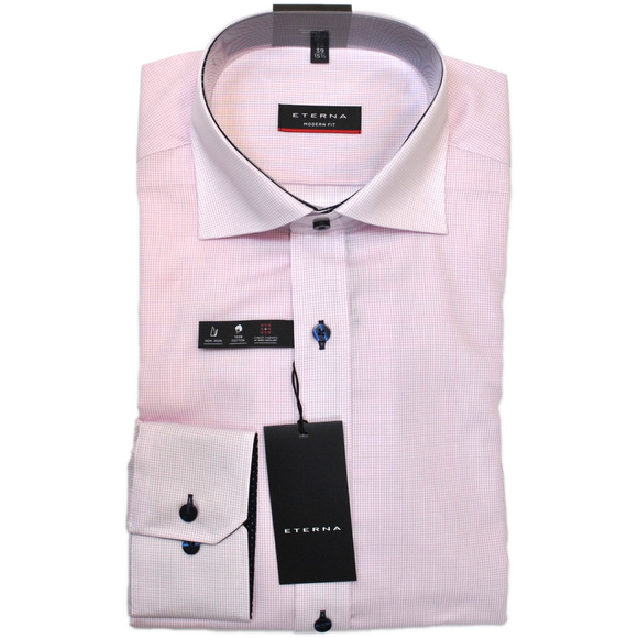 Eterna Micro Check Shirt - Pink